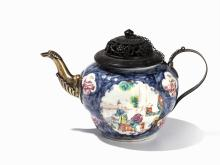 Famille Rose Teapot with Cover, China, 18th C.
