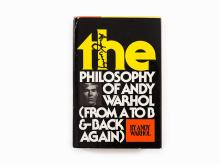 Andy Warhol, The Philosophy of Andy Warhol, Book with Sketch