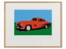 After Andy Warhol, Mercedes 300 SL Gullwing, Serigraph, 1986