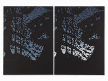 Alex Katz, Twilight 1 & 2, Linoleum Cut/Monotype, 2008