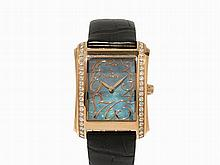Schoeffel 18K Gold Ladies' Wristwatch Studded with Diamonds