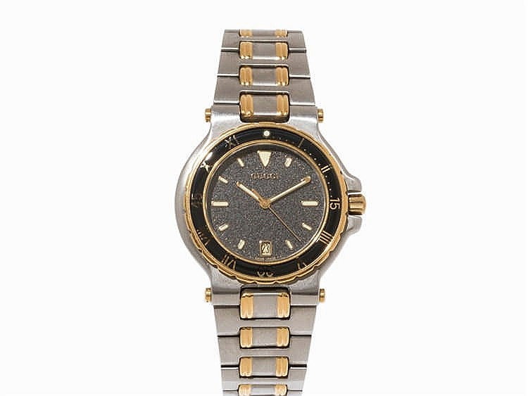 Gucci, Two-Tone Wristwatch, Ref. 9700 M, Switzerland, 2000s