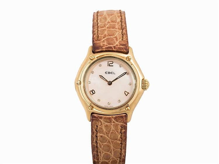 Ebel Sport Classique Watch, 18K Gold, Ref. 8090241, 2000s