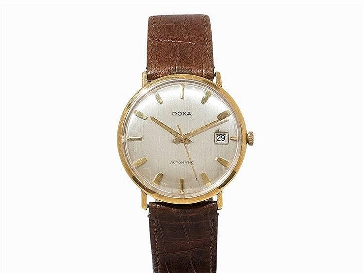Doxa Automatic 18 K Gold Wristwatch, Switzerland, 1960