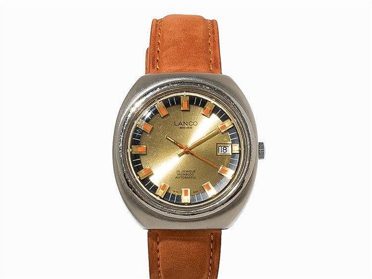 Lanco Langendorf Vintage Wristwatch, Switzerland, 1970s