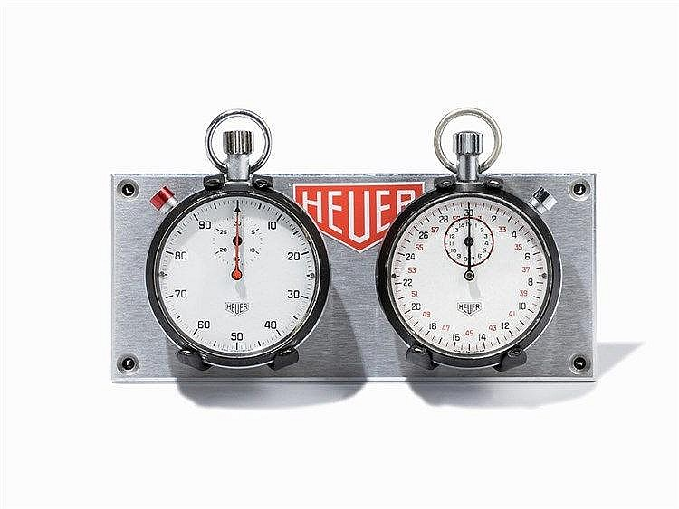 2 Heuer Stop Watches with DashboardSwitzerland, 1970s