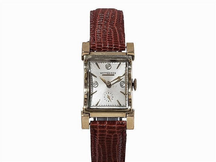 Wittnauer, Wristwatch with Diamonds, 14K Yellow Gold