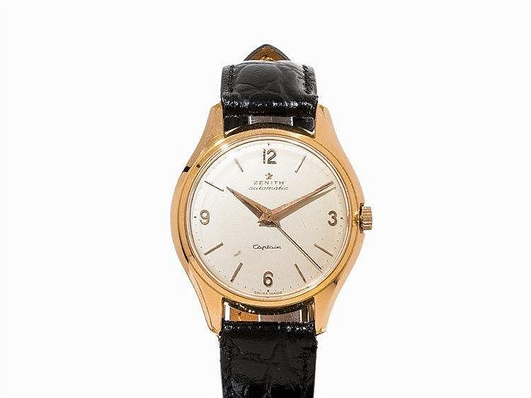 Zenith Captain Automatic Wristwatch, Switzerland, C. 1955