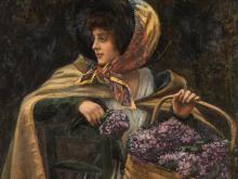 Henry Charles Tenré, La Marchande de Violettes, c. 1900