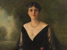 Charles Lévy, Lady's Portrait, Oil Painting, 1918