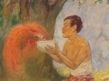 Heinz Schmidt-Rom, 'Javanisches Märchen, Paradiesvogel', 1900