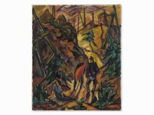 Otto Beyer, November Revolution, Oil Painting, 1919