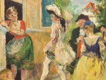 Ludvig Jacobsen, Oil, 'Hexerie eller Blind Allarm', c. 1930