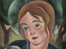 Carry Hauser, attr., Christ Child and Saint Peter, Oil, 1932