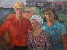 Nina A. Sergeeva, Oil, Russian Village Teenager, Russia, 1951
