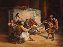 H. Gerard, Oil Painting, El Sable, Argentina, around 1950/60