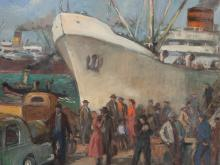 Boris Kriukow, Oil Paintings, Inmigrantes, Argentina, c. 1955