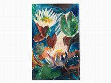 Will Sohl (1906-1969), Water Lilies, Watercolor, 1967