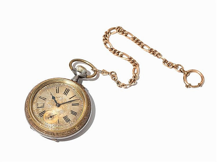 Early Swiss Pocket Watch, Switzerland, Around 1880