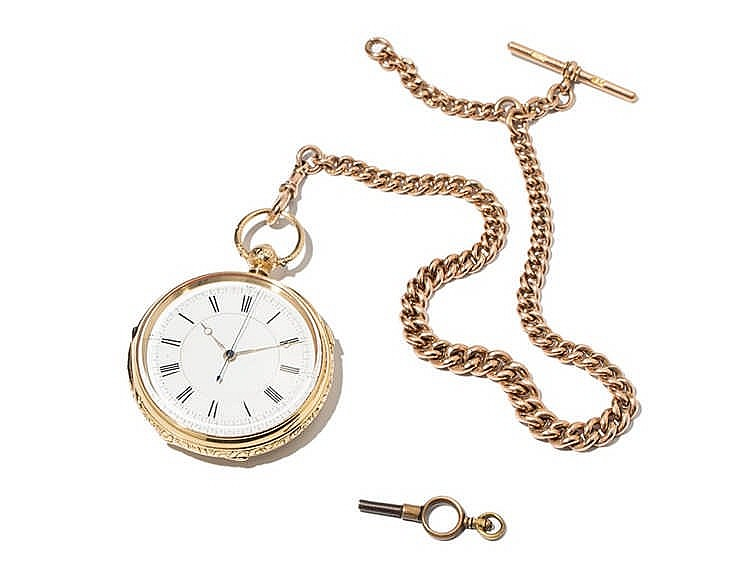 Gold Pocket Watch, England, Around 1880