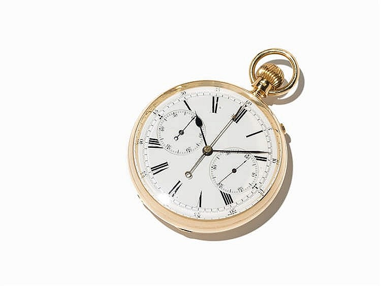 E. R. Shipton Gold Chronograph Rattrapante, London, C. 1895