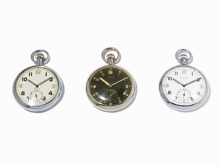 Military Pocket Watches Switzerland, c. 1940