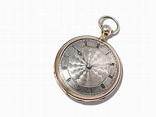 Silver Open Face Pocket Watch, c. 1850