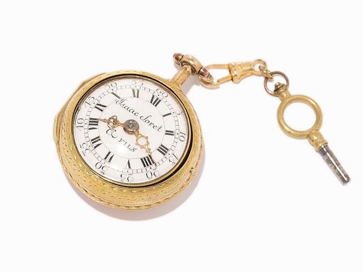 Isaac Soret & Fils Spindle Pocket Watch, Switzerland, c. 1750
