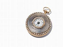French Spindle Pocket Watch with Pearls, c. 1850