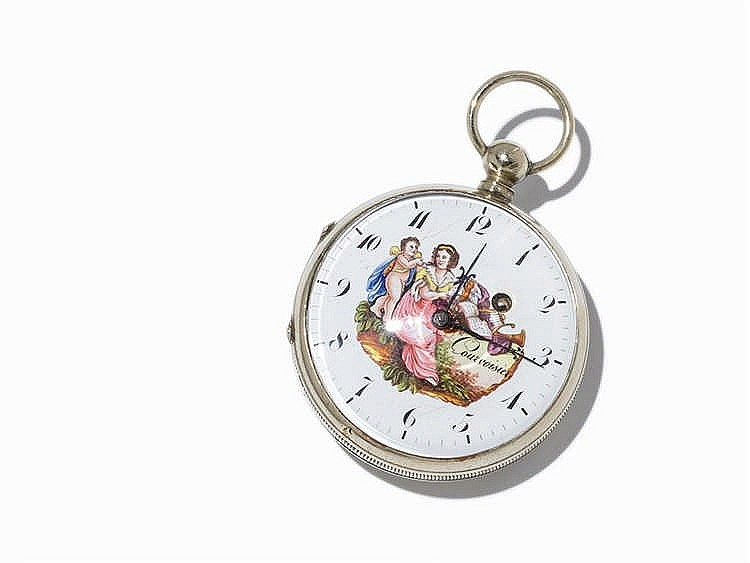 Courvoisier Open Face Pocket Watch, Switzerland, c. 1850