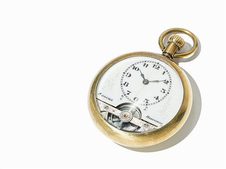 Hebdomas 8 Jours Pocket Watch, Switzerland, Around 1900