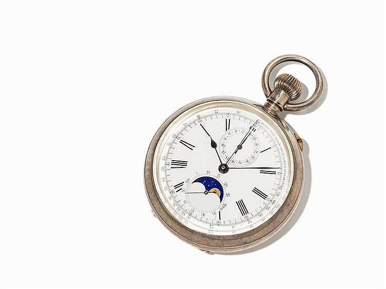 Ascot Pocket Watch Chronograph, Switzerland, Around 1897
