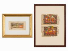Convolut of Miniature Paintings of Ramayana, India, early 19th
