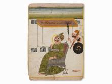 Miniature, Maharaja Bijay Singh of Jodhpur, ca. 1795-1800
