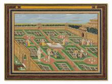 Balarama, Krishna & Rukmini in a Garden, Late 19th/20th C.