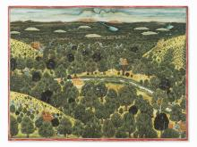 A nobleman Hunting Tigers from a Tree Stand, late 19th/20th C.
