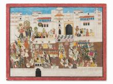 Procession With Rajput Noblemen, India, 2nd Half 19th C.