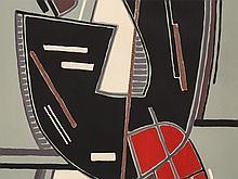 Alberto Magnelli, Composizione con Rosso, Lithograph, 1965