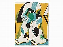 Horst Antes, Figur mit Schwarzer Kappe, Color Lithograph, 1967
