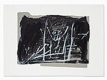 Antoni Tàpies, Noir et craie, Lithograph in Colors, 1968