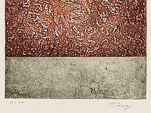 Mark Tobey, Red´s Return, Aquatint in Colors, 1974
