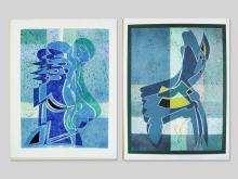 Two Abstract Compositions by Wladimir Erlebach, 1978/79