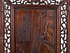 Pair of Hardwood Panels with Landscape Motifs, Early 20th C.