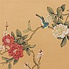 Zhu Cheng Among Others, 6 Floral Painting on Silk, 20th C