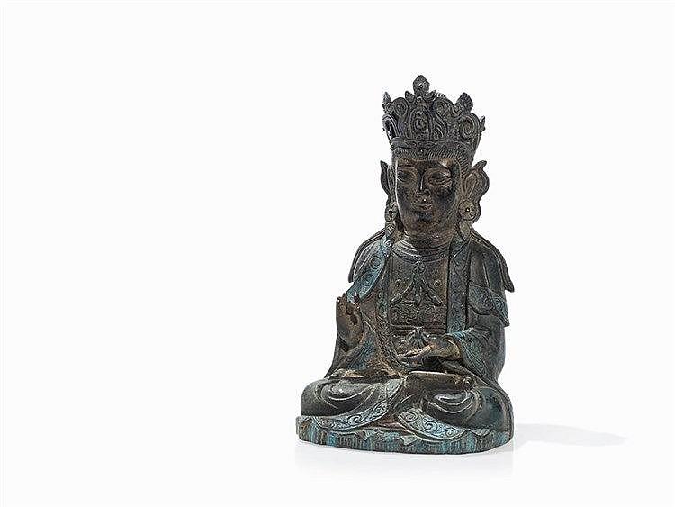 Bronze Figure of a Bodhisattva Guanyin, Ming