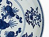 Blue-and-White Plate with Auspicious Symbols, 19th C.