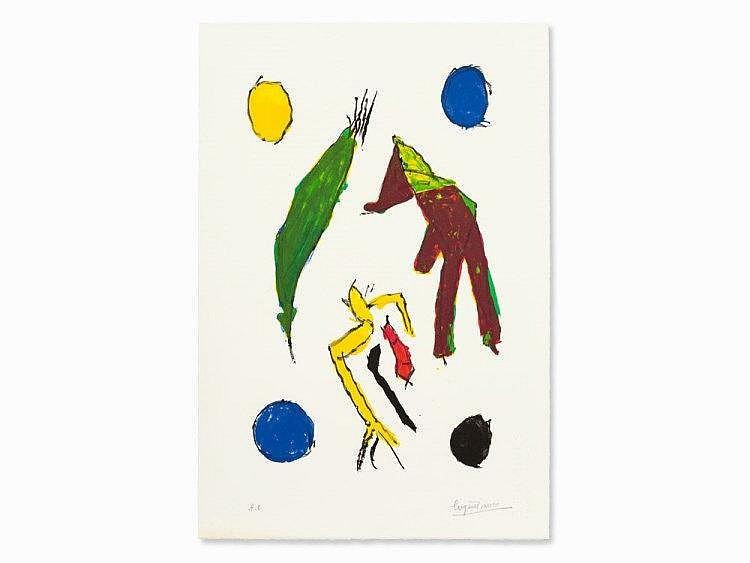 Eugène Ionesco (1909-1994), 'Les esprits et leurs lunes', 1985