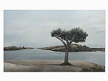 Franz Baumgartner, Riverscape, Oil Painting, 2004