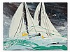 Christian Claerebout, 2 Sailboats, Acrylic, 2nd H. 20th C., Christian Claerebout, €600