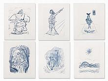 Max Ernst, Six Color Lithographs, 'Le parquet se souleve', 1973
